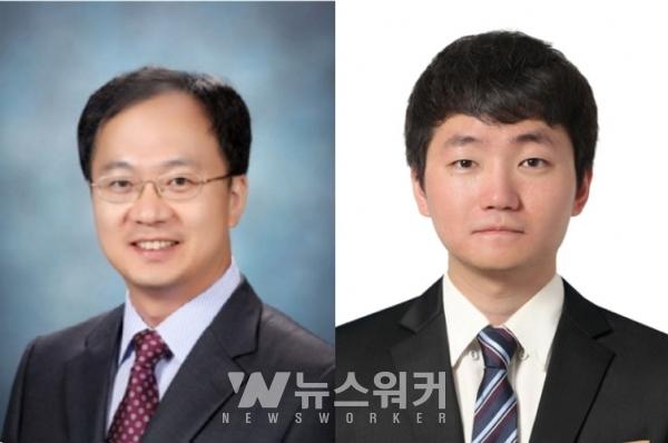 왼쪽부터 고흥조 교수, 김기관 학생